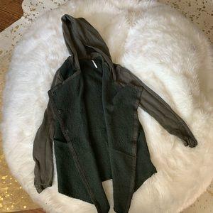 Free people hooded sweater/ jacket